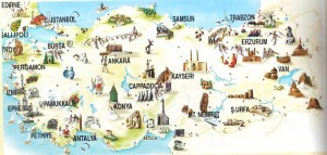 Turkey Package Tours - Map of Turkey