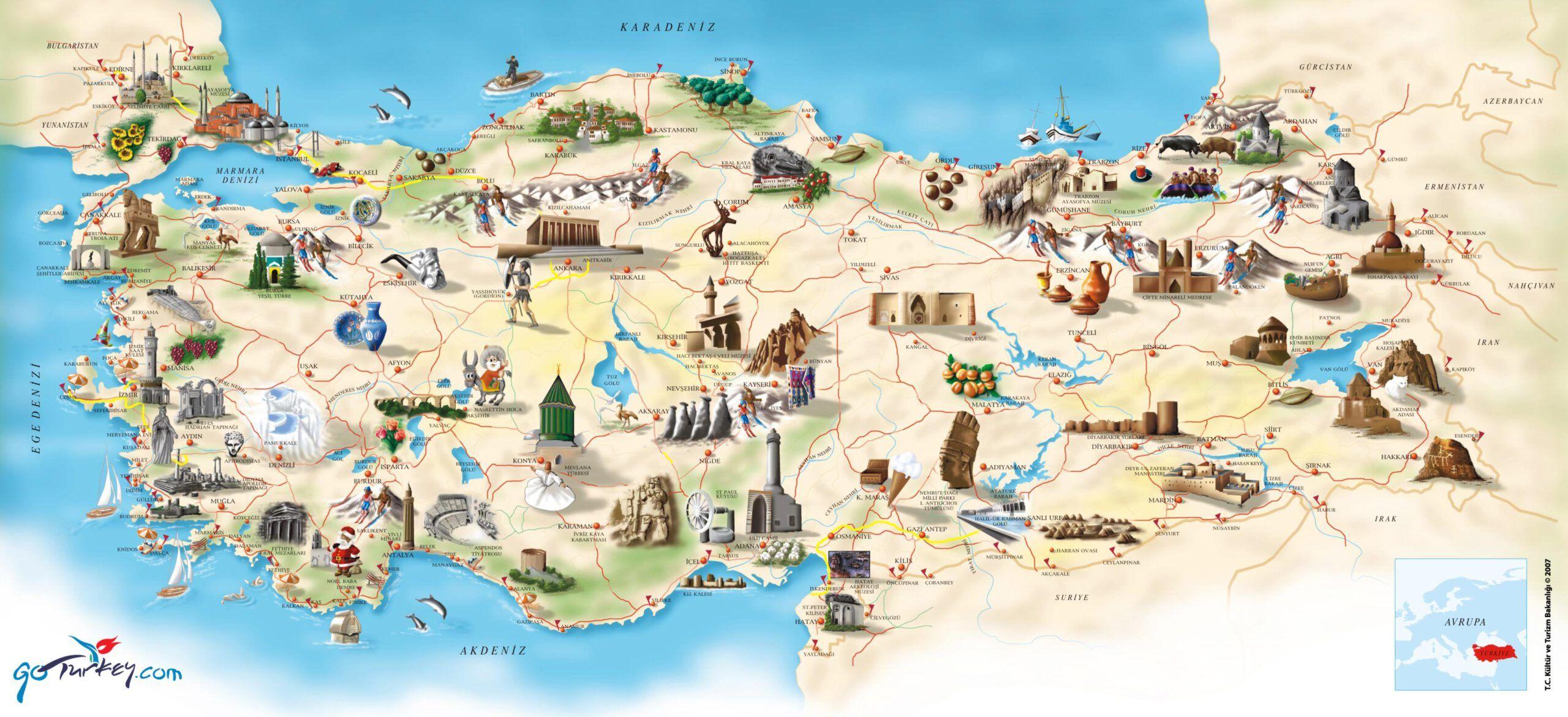 Turkey Tours Map